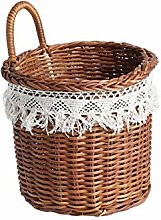 YHNJI Vintage style hand-woven wicker shopping