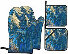 Yhouqukhdeueh 4Pcs Oven Mitts and Pot Holders