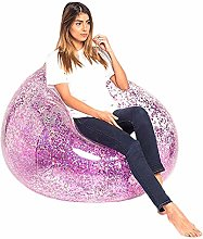 YHWD Inflatable Air Sofa Chair, Glitter Sequins