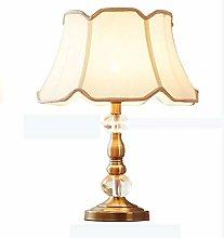 YHWLKK Crystal table lamp bedroom bedside lamp