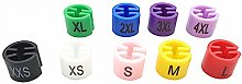 YianBestja Colorful Clothing Size Markers Closet