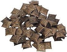 Yibuy 100pcs Bronze Antique Square Upholstery