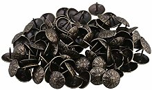 Yibuy 100x Elegant Bronze Upholstery Nails Tacks