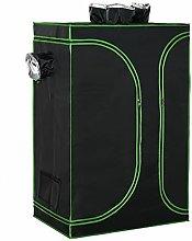 YIE Mylar Hydroponic Grow Tent w/Floor Tray for