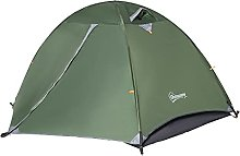YIE Two-Man Dome Camping Tent Rainfly 4 Windows
