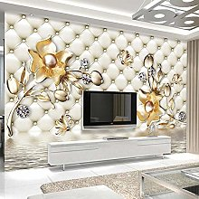 YIERLIFE 3D Photo Wallpaper Luxury Soft Bag Flower