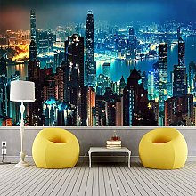 YIERLIFE Wall Mural 3D Wallpaper Architecture City
