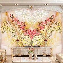 YIERLIFE Wall Mural 3D Wallpaper European Style