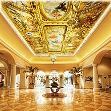 YIERLIFE Wall Mural 3D Wallpaper Golden Luxurious