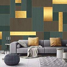 YIERLIFE Wall Mural 3D Wallpaper Golden Modern