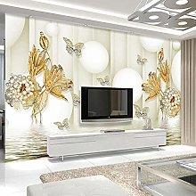 YIERLIFE Wall Mural 3D Wallpaper Golden Pearl