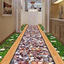 YIERLIFE Wall Mural 3D Wallpaper Green Flower
