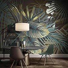 YIERLIFE Wall Mural 3D Wallpaper - Green Plant