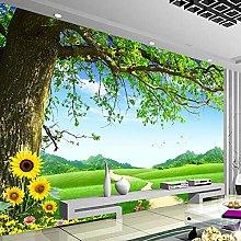 YIERLIFE Wall Mural 3D Wallpaper Green Plants