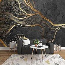 YIERLIFE Wall Mural 3D Wallpaper Hexagons Abstract