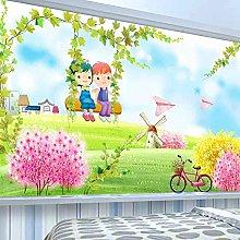 YIERLIFE Wall Mural 3D Wallpaper House Leaves