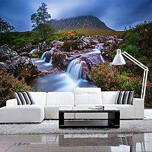 YIERLIFE Wall Mural 3D Wallpaper Mountain