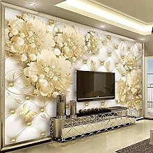 YIERLIFE Wall Mural 3D Wallpaper Pearls Jewelry