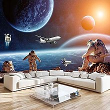 YIERLIFE Wall Mural 3D Wallpaper Planet Space