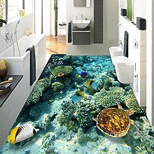 YIERLIFE Wall Mural 3D Wallpaper Seabed Scenery