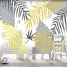 YIERLIFE Wall Mural 3D Wallpaper Simple Gray