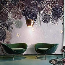 YIERLIFE Wall Mural 3D Wallpaper Tropical Plants