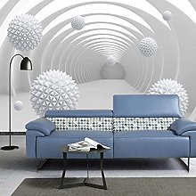 YIERLIFE Wall Mural 3D Wallpaper - Tunnel Space