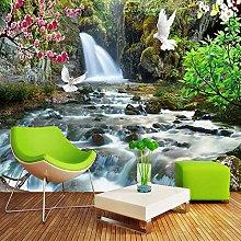 YIERLIFE Wall Mural 3D Wallpaper Waterfall