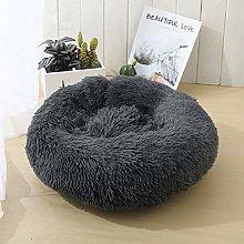 YIFANDU Dog Bed Round Soft Plush Surface Puppy