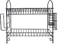 YIFEI2013-SHOP Dish Drainer Rack 2 Tiers Metal