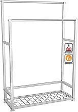 YIHANGG Freestanding towel stand with shelf,