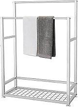 YIHANGG Towel stand with shelf, standing towel