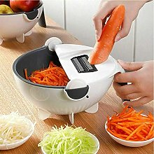 Yiicook Vegetable Cutter,Manual Slicer Drainer