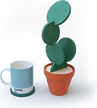 YIJIA 6 PCS Cactus Coasters Non-slip Tea Mug