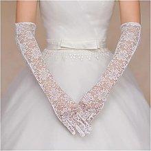 YILAHUAN wedding gloves Beautiful Lace White Black