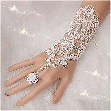YILAHUAN wedding gloves Cheap Fingerless Lace