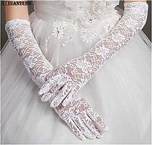 YILAHUAN wedding gloves Cheap Lace Wedding Gloves