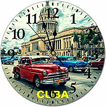 Yilooom Havana City Cuba Caribbean Old Car 10 Inch