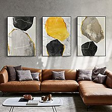 Yimesoy Abstract Geometric Color Block Marble