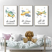 Yimesoy Airplane Nursery Posters Canvas Painting