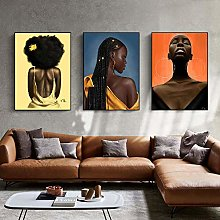 Yimesoy Nordic Abstract African Sexy Black Woman