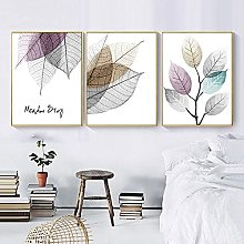 Yimesoy Nordic Minimalist Watercolor Abstract Leaf