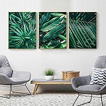 Yimesoy Small Fresh Green Plant Leaf Wall Art