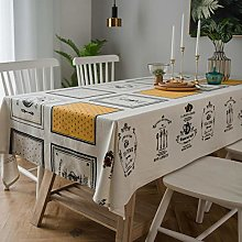 Yinaa Anti Fading Rectangular Table Cover Cotton