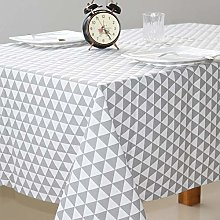 Yinaa Oblong Rectangular Table Cloths Cotton Linen
