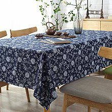 Yinaa Oblong Rectangular Table Cloths Retro Cotton