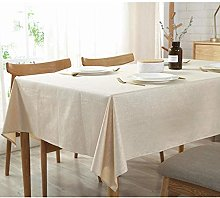 Yinaa Rectangle Stain Resistant Table Cloth Cotton