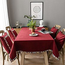 Yinaa Stylish Wipe Clean Table Cloths Cotton Linen
