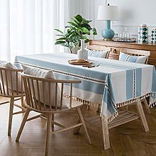 Yinaa Water Resistant Table Cloth Cotton Linen