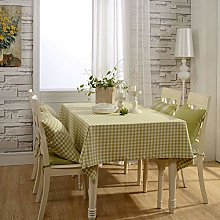 Yinaa Wipe Clean Tablecloth for Party Cotton Linen